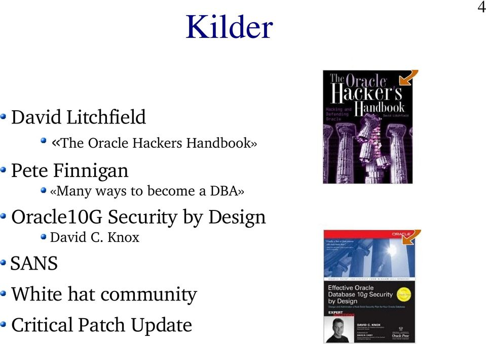 DBA» Oracle10G Security by Design David C.