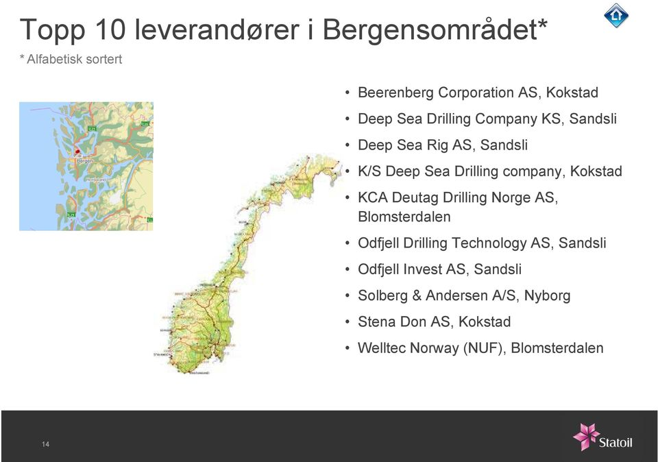 KCA Deutag Drilling Norge AS, Blomsterdalen Odfjell Drilling Technology AS, Sandsli Odfjell Invest