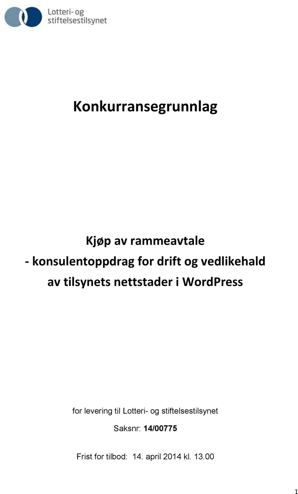 nettstader i WordPress for levering til Lotteri- og
