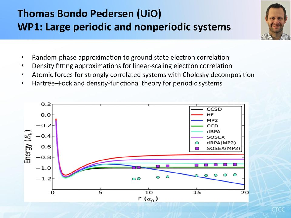 for linear- scaling electron correla/on Atomic forces for strongly correlated