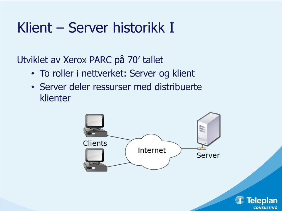 nettverket: Server og klient Server