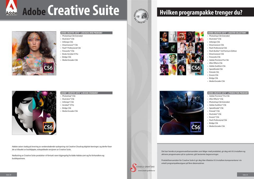 Photoshop CS6 Extended Illustrator CS6 InDesign CS6 Dreamweaver CS6 Flash Professional CS6 Flash Builder 4.