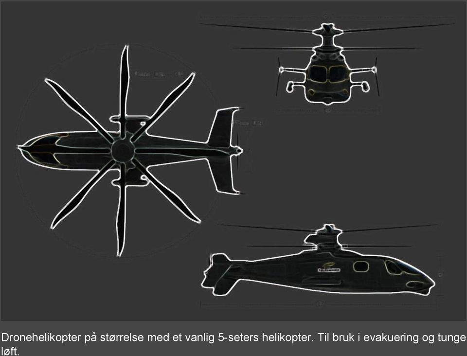 5-seters helikopter.