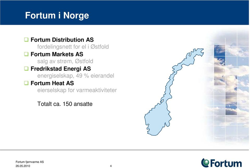 Energi AS energiselskap, 49 % eierandel Fortum Heat AS