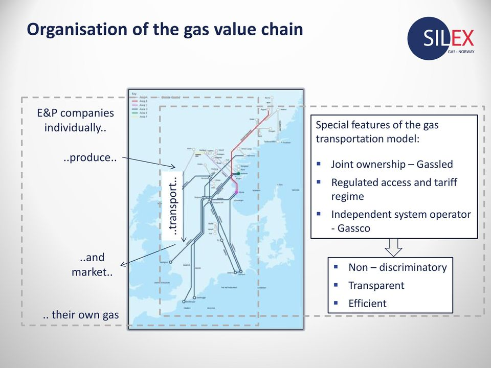 . Special features of the gas transportation model: Joint ownership Gassled