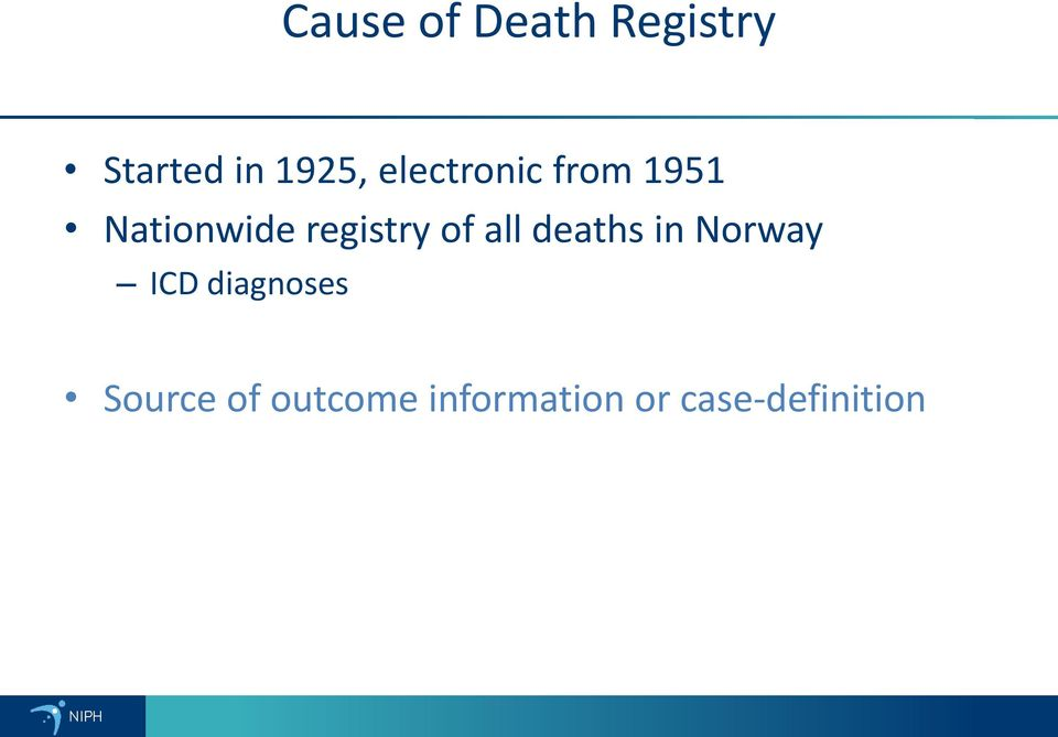 of all deaths in Norway ICD diagnoses