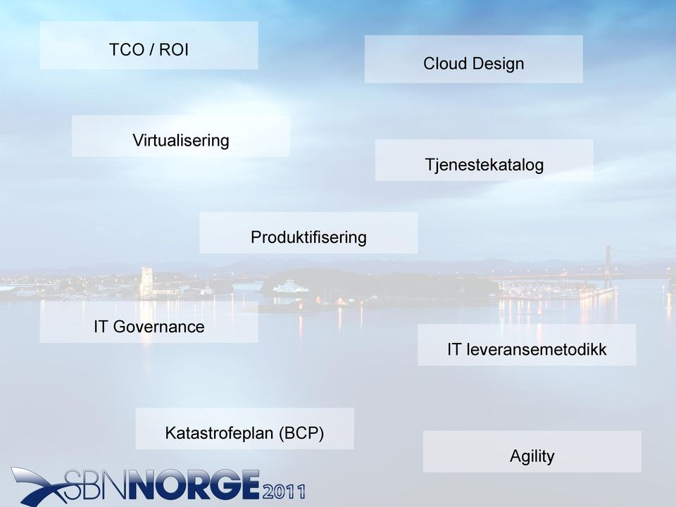 Produktifisering IT Governance IT