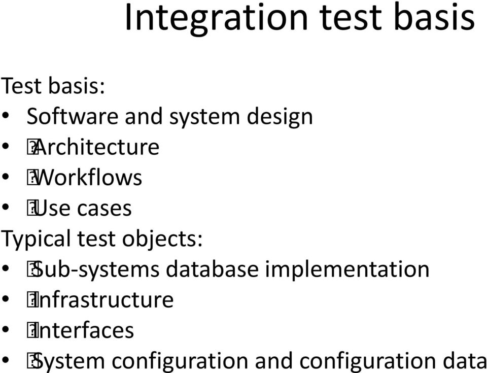 objects: Sub-systems database implementation