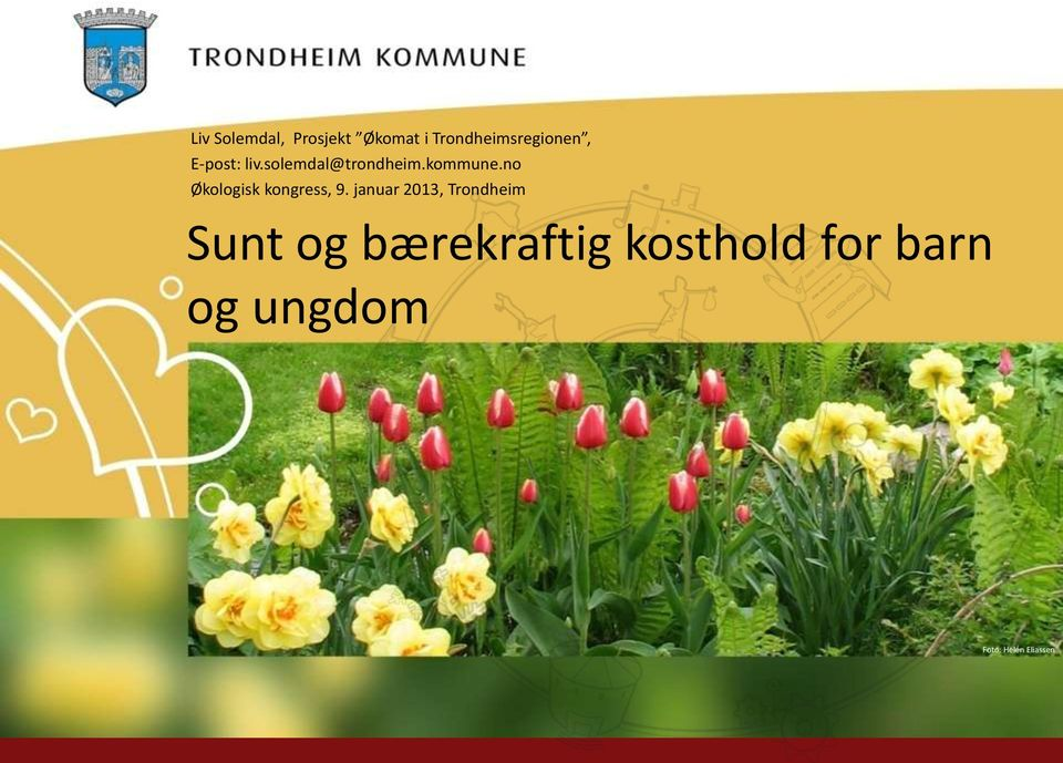 no Økologisk kongress, 9.