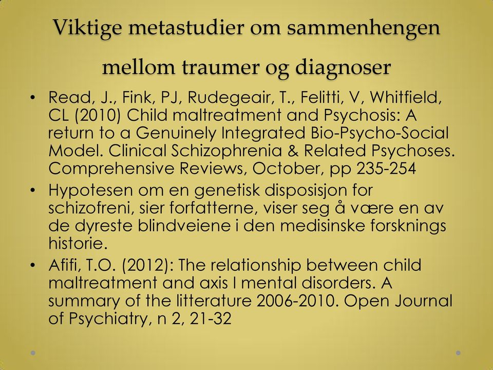 Clinical Schizophrenia & Related Psychoses.