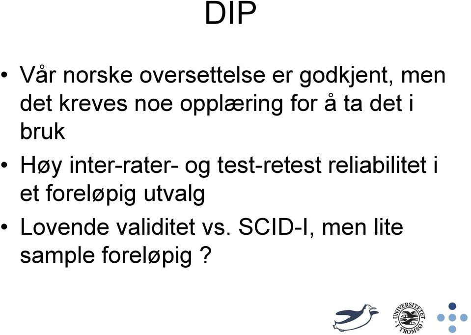 inter-rater- og test-retest reliabilitet i et