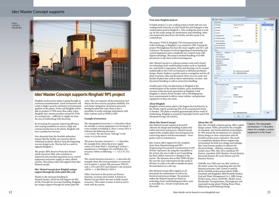 Ides Master Concept supports Ringhals RPS project Ringhals nuclear power plant is going through an enormous transformation.