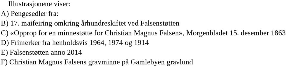 minnestøtte for Christian Magnus Falsen», Morgenbladet 15.