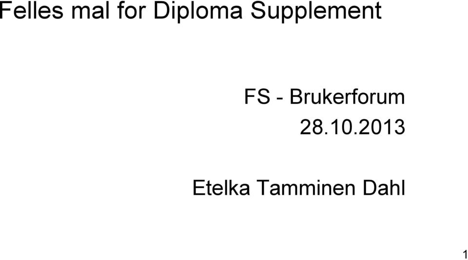 FS - Brukerforum 28.