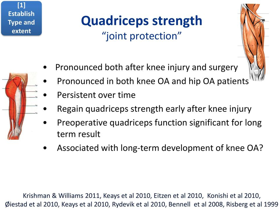 function significant for long term result Associated with long-term development of knee OA?