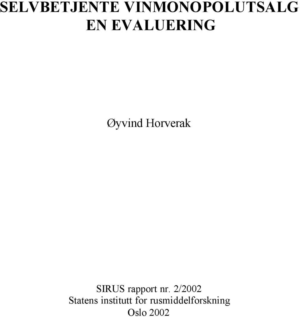 rapport nr.