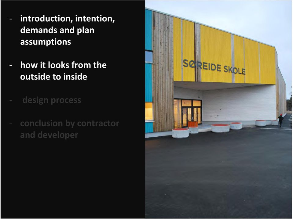 the outside to inside design process