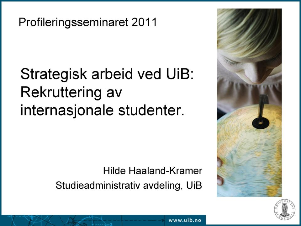 internasjonale studenter.