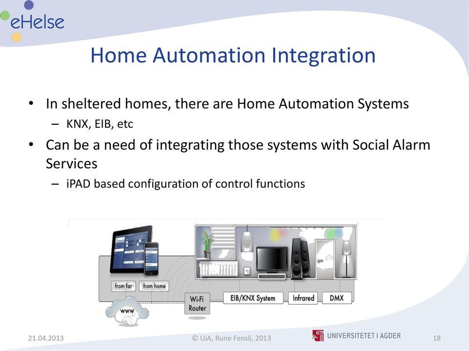integrating those systems with Social Alarm Services ipad