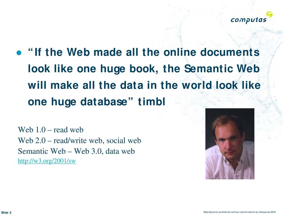 0 read web Web 2.0 read/write web, social web Semantic Web Web 3.