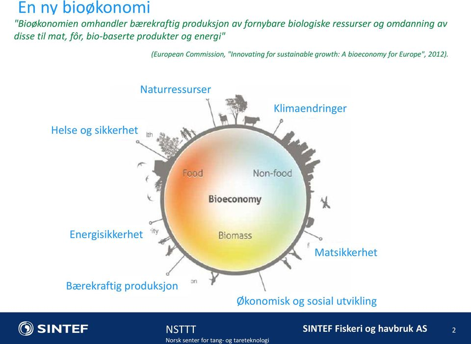 """Innovating for sustainable growth: A bioeconomy for Europe"", 2012)."