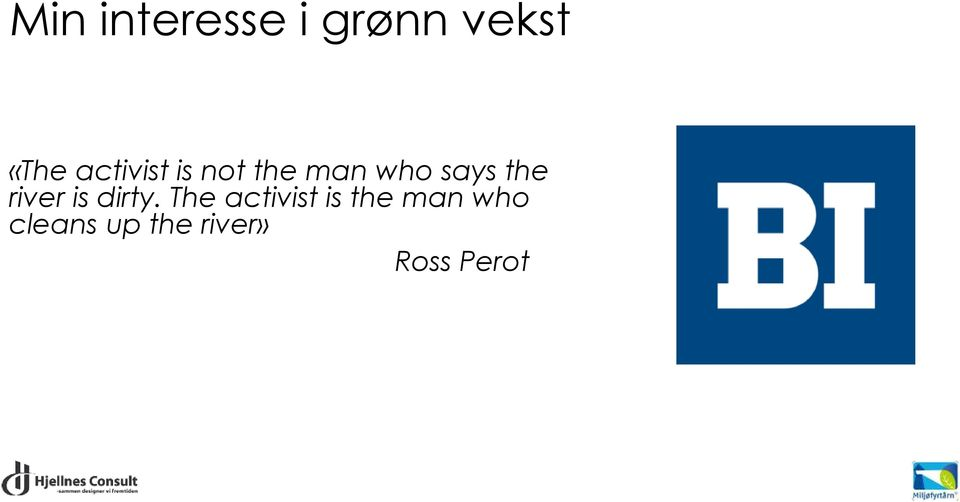 river is dirty.