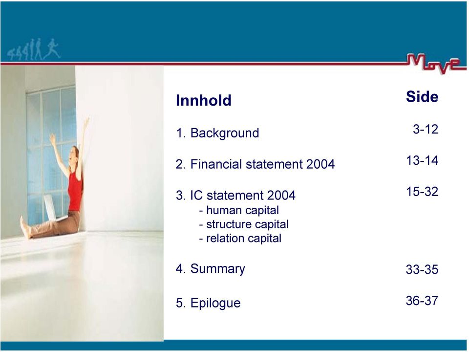 IC statement 2004 - human capital - structure