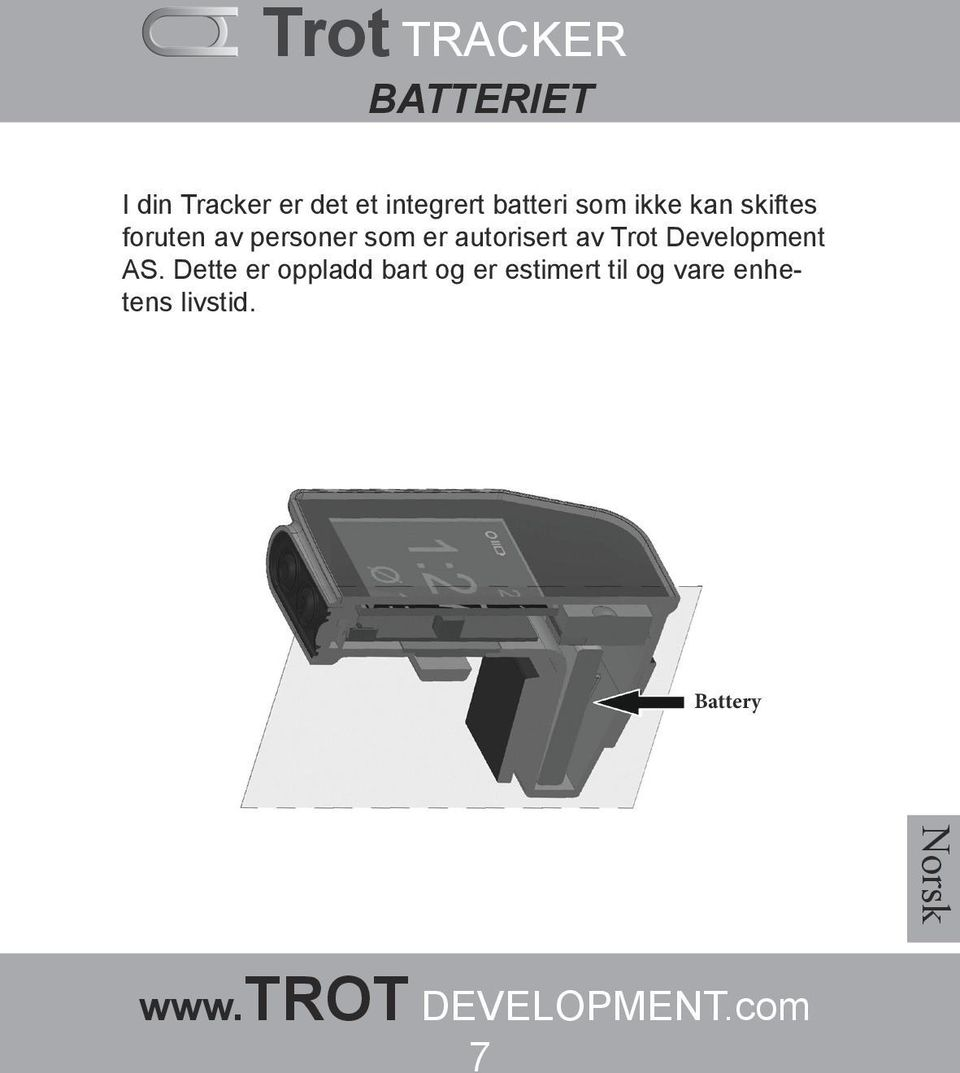 autorisert av Trot Development AS.