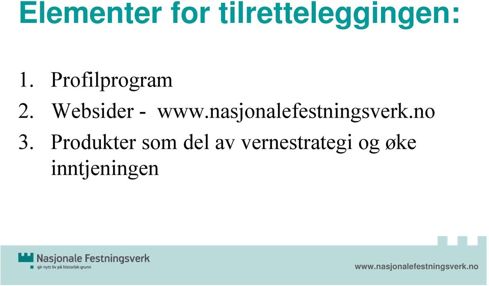 Profilprogram 2. Websider - 3.