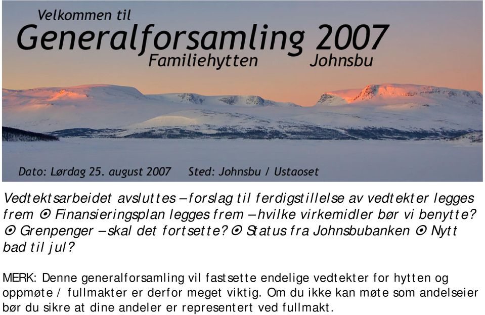 Status fra Johnsbubanken Nytt bad til jul?