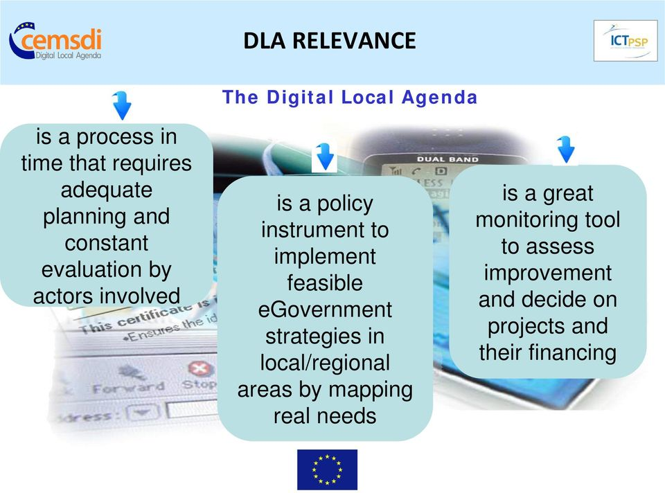 implement feasible egovernment strategies in local/regional areas by mapping real