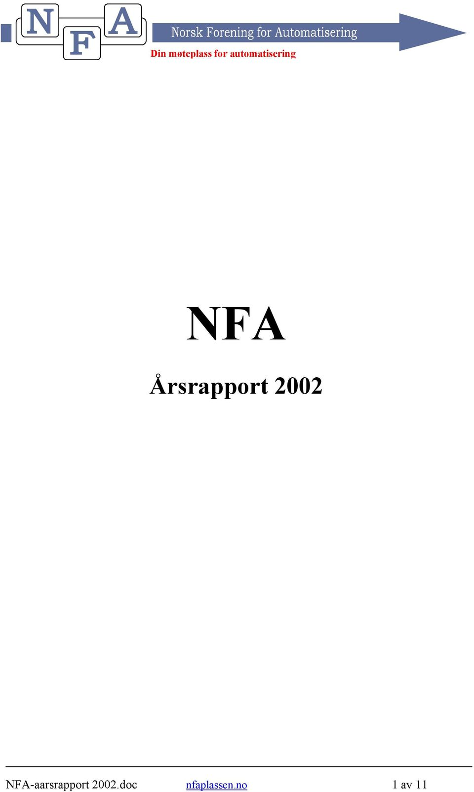 NFA-aarsrapport .