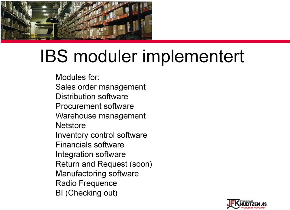 Netstore Inventory control software Financials software Integration