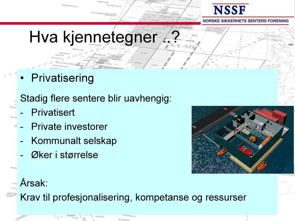 uavhengig: - Privatisert - Private investorer -