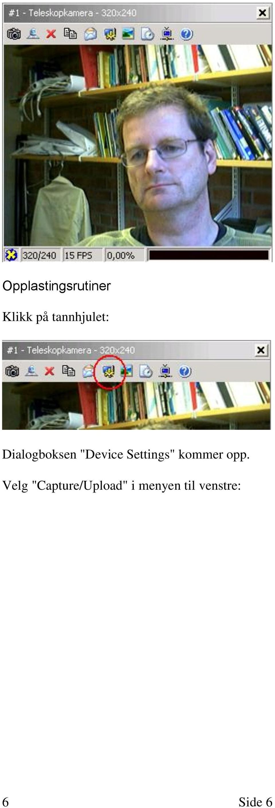 "Settings"" kommer opp."