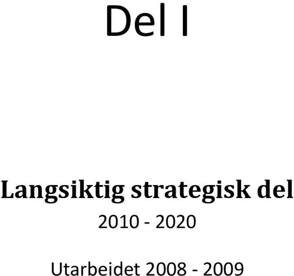 strategisk del