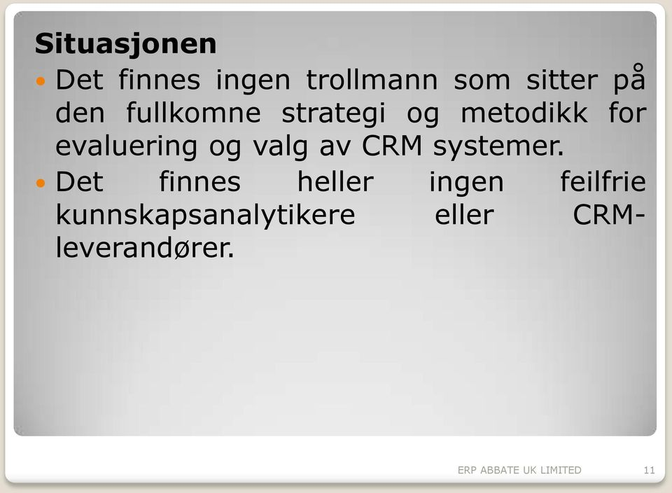 CRM systemer.