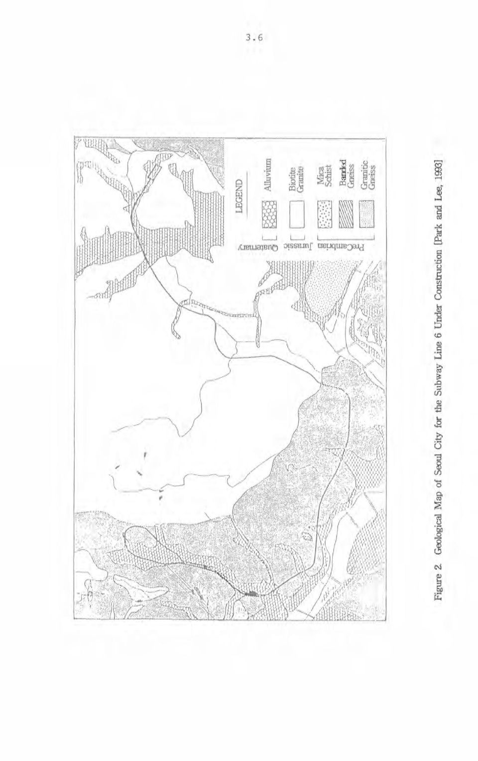 Geological Map of Seoul City for the Subway Line 6