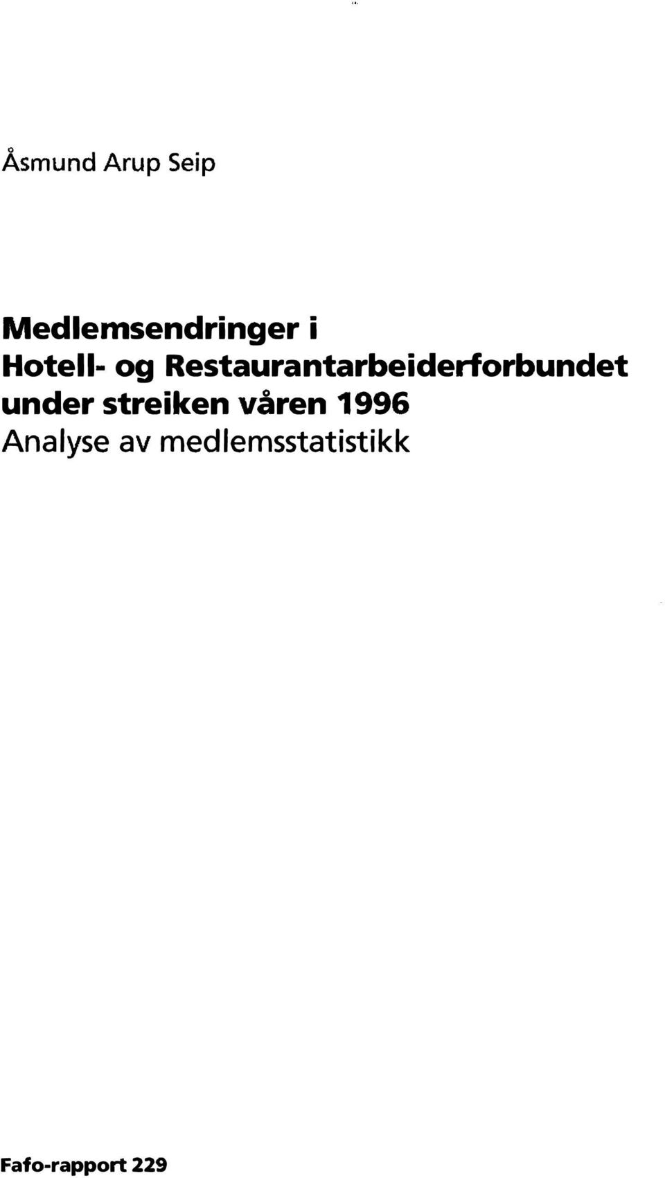Restaurantarbeiderforbundet under