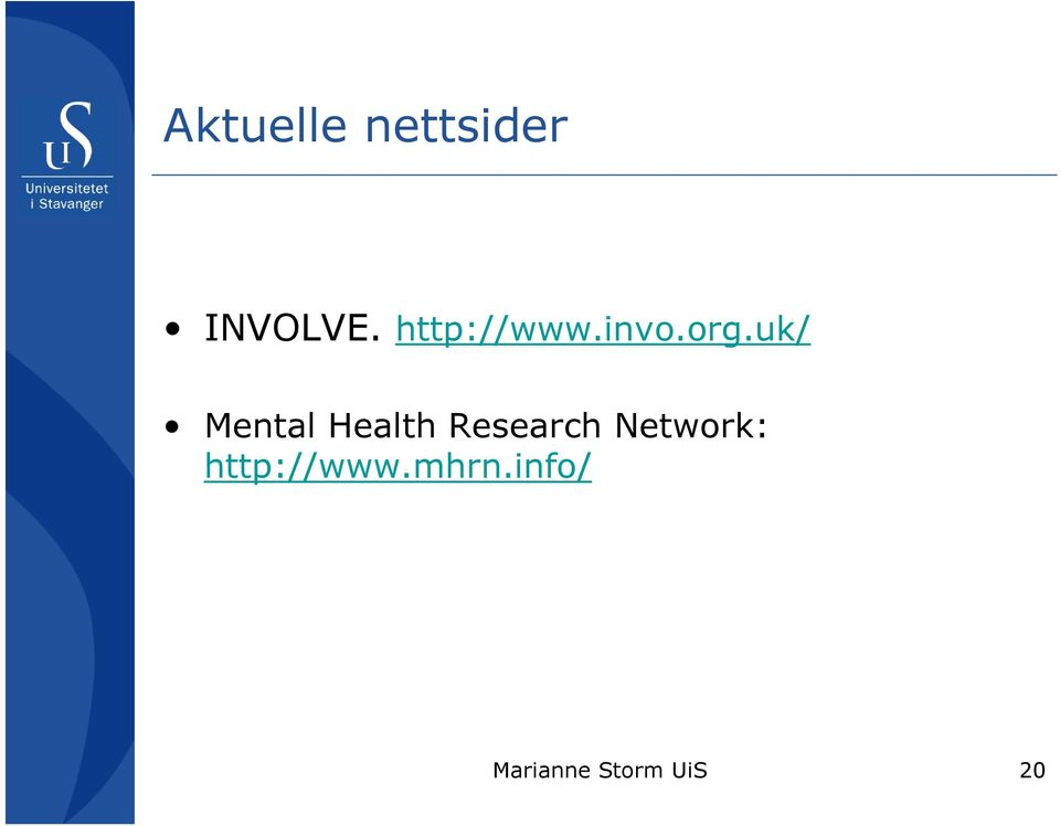uk/ Mental Health Research