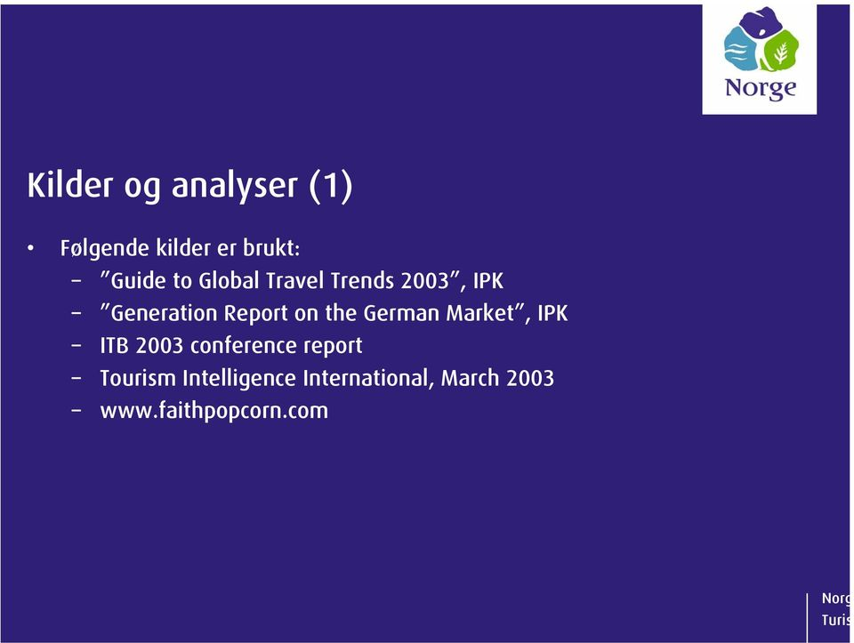 the German Market, IPK ITB 2003 conference report