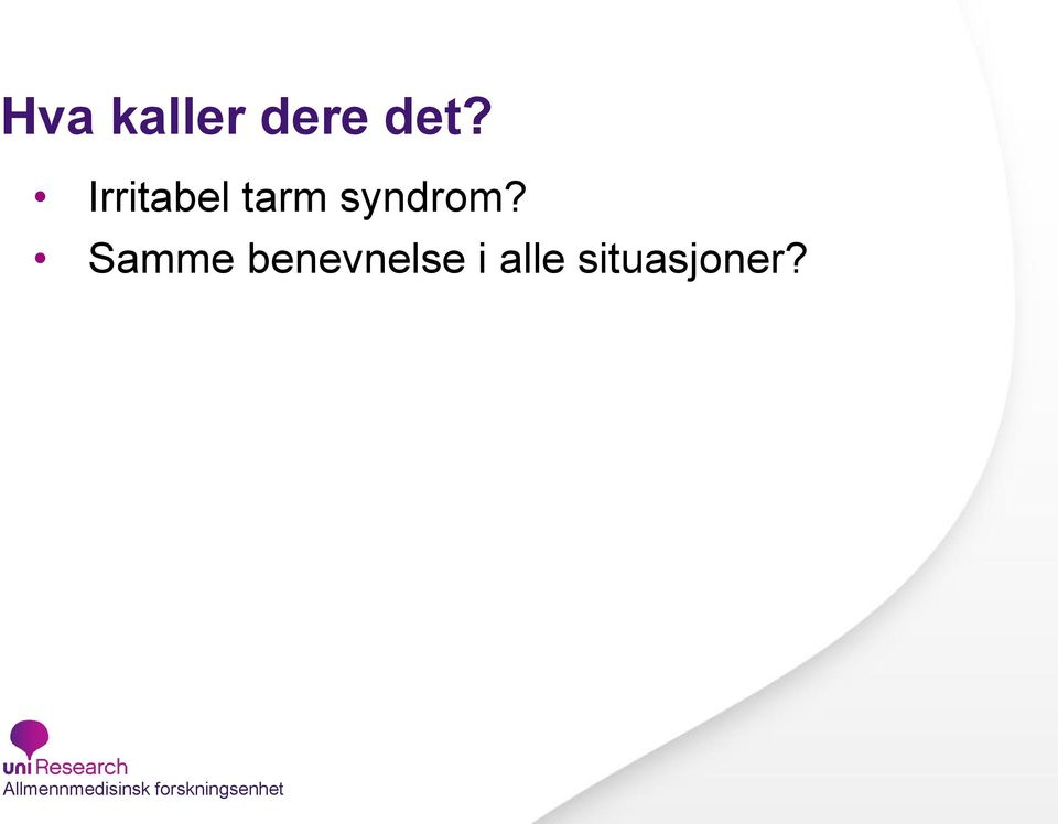 syndrom?