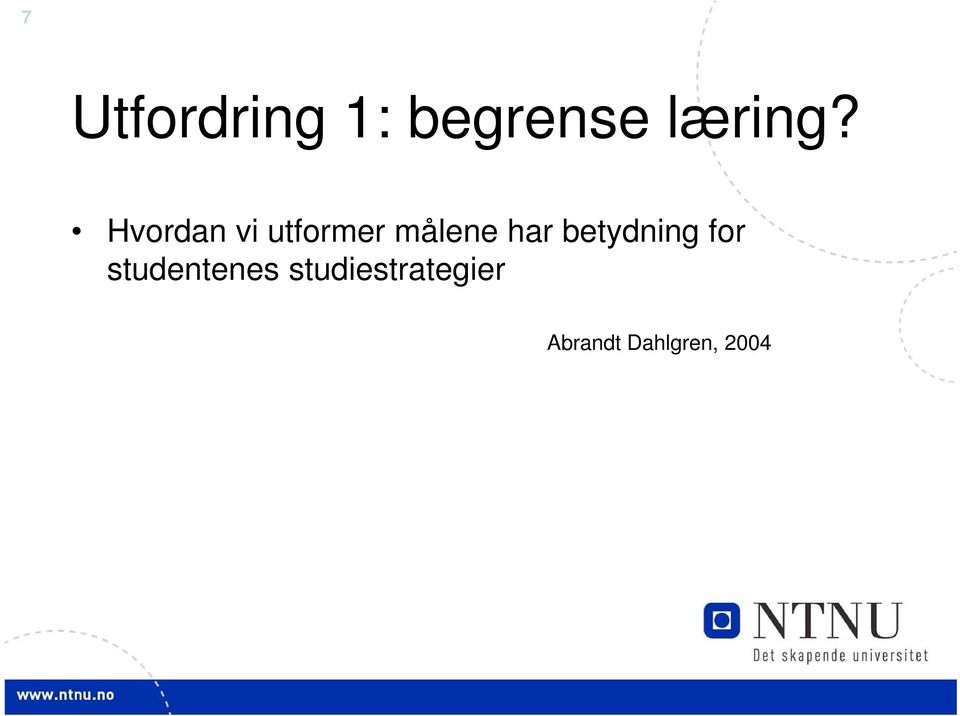 betydning for studentenes