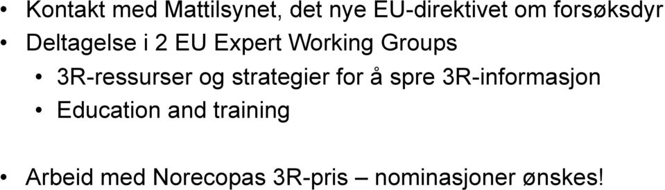 3R-ressurser og strategier for å spre 3R-informasjon
