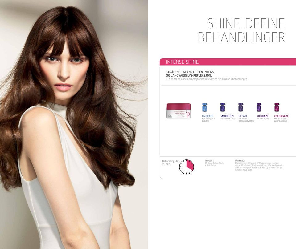 color brilliance SP Shine Define Mask Bland 2 skjeer (25 gram) SP Mask sammen med den valgte SP
