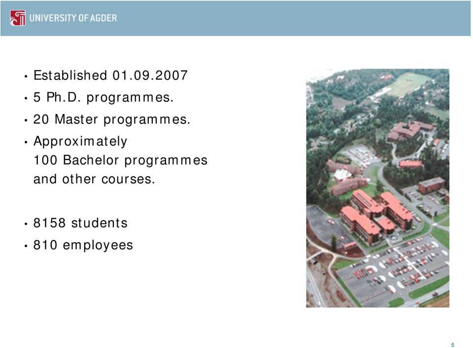 Approximately 100 Bachelor programmes
