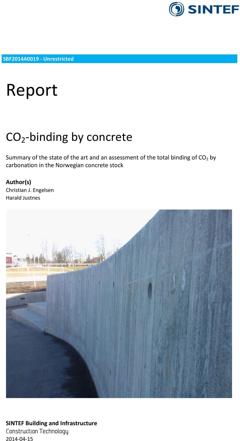 carbonation in the Norwegian concrete stock Author(s) Christian J.