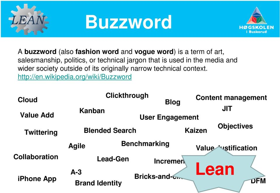 org/wiki/buzzword Cloud Value Add Twittering Collaboration iphone App Clickthrough Kanban Blended Search Blog User Engagement