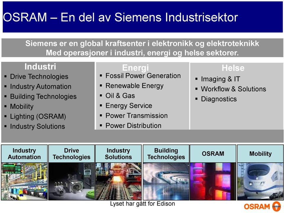 Industri Lighting (OSRAM) Industry Solutions Energi Fossil Power Generation Renewable Energy Oil & Gas Energy Service Power