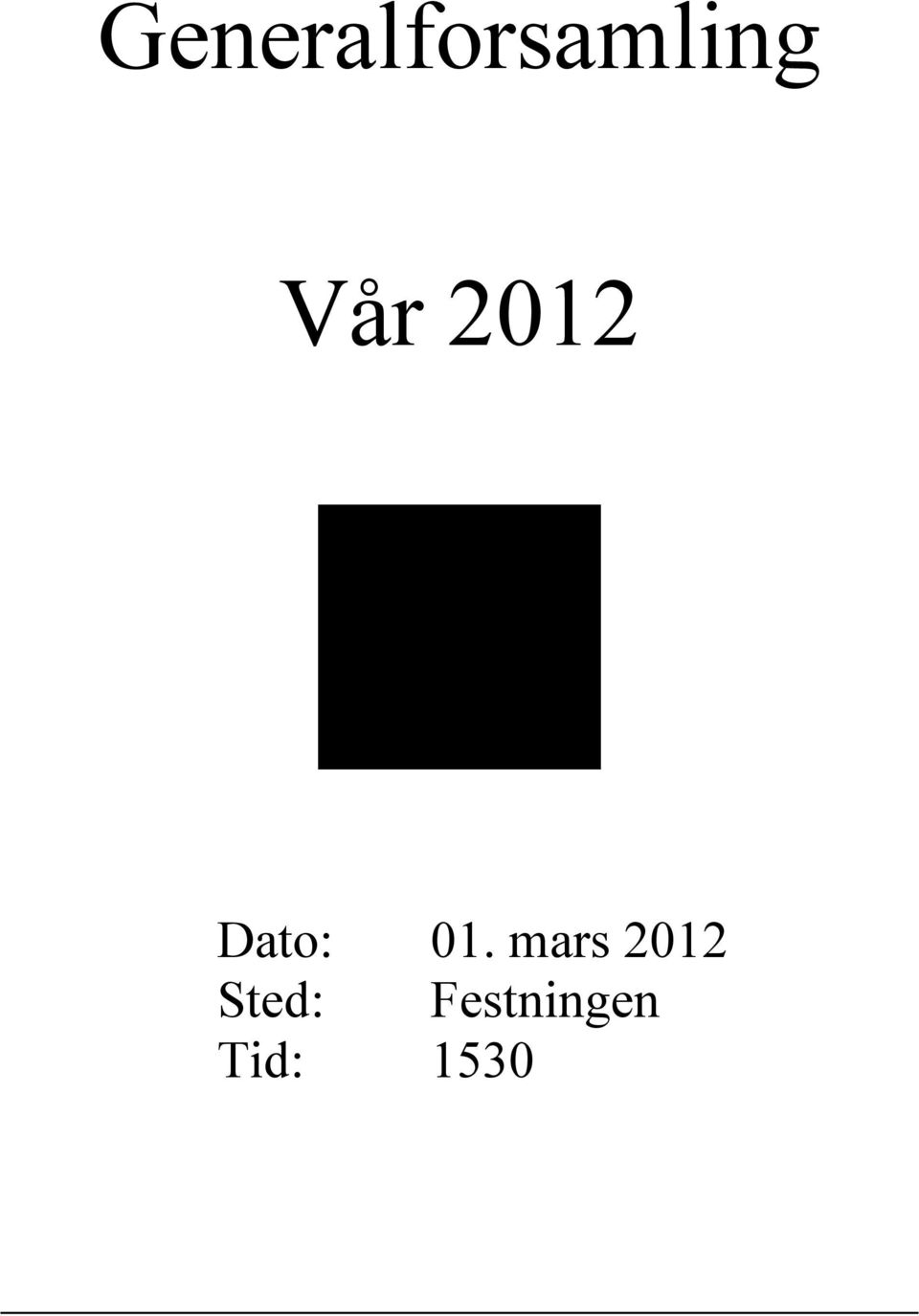 mars 2012 Sted: